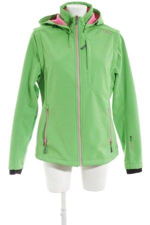 CMP Outdoorjacke grün-pink sportlicher Stil