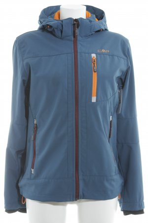 CMP Softshell Jacket orange-blue athletic style