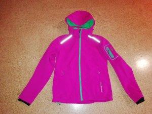 CMP Softshelljacke pink/grün S NEU