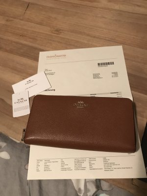 Coach Wallet cognac-coloured-gold-colored