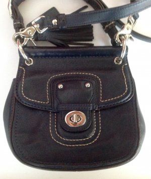Coach  Bag Ledertasche dunkelblau