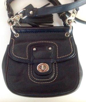 Coach Handbag dark blue leather