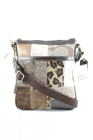 Coach Pouch Bag mixed pattern patchwork look