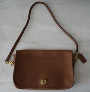 COACH City Bag Designer Handtasche Leder braun cognac Vintage