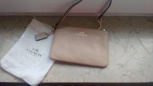 COACH Clutch Pochette mini Handtasche beige nude leder echtleder luxus designer