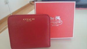 Coach Portefeuille rouge cuir