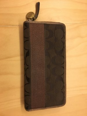 Coach Wallet brown-bronze-colored synthetic material
