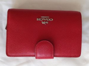 Coach Wallet red leather