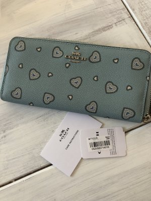 Coach Wallet pale blue-light blue leather