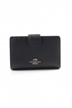 "Coach Geldbörse ""Snap Wallet Saffiano Light Gold/Black"" schwarz"