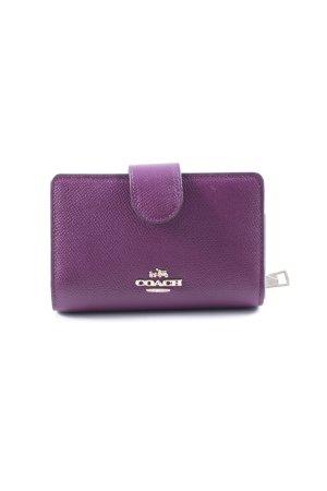 "Coach Wallet ""Snap Wallet Saffiano Light Gold/Plum"" purple"