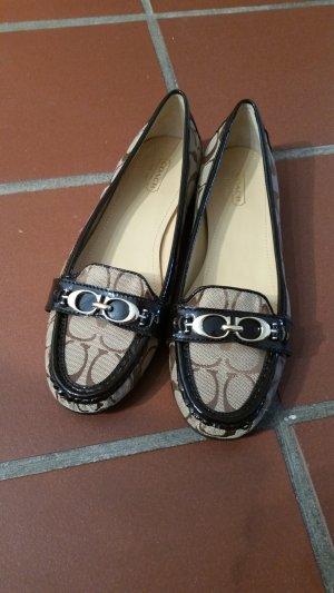 Coach Zapatos estilo Oxford marrón oscuro