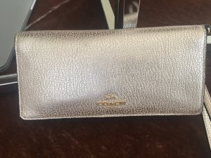 Coach Hand Wristlet In Gold