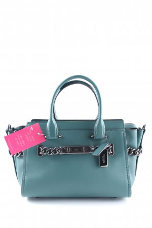 "Coach Handtasche ""Coach Swagger Glovetanned Leather Tote Dark Turquoise"""