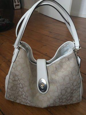 Coach Handtasche in weiß/creme