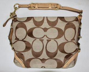 Coach Carry Bag camel-bronze-colored