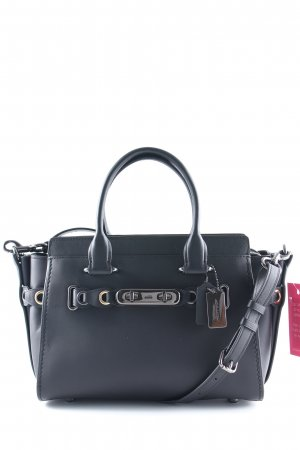 "Coach Handtasche ""Swagger 27 With Link Detail Black/Dark Gunmetal"" schwarz"
