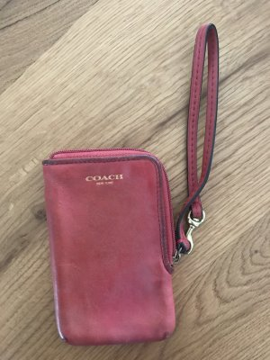 Coach Mobile Phone Case red leather