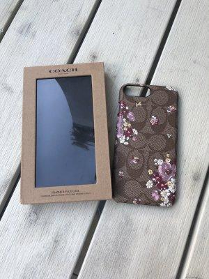 Coach Étui pour téléphone portable gris brun-marron clair