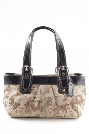 Coach Henkeltasche creme Allover-Druck Casual-Look