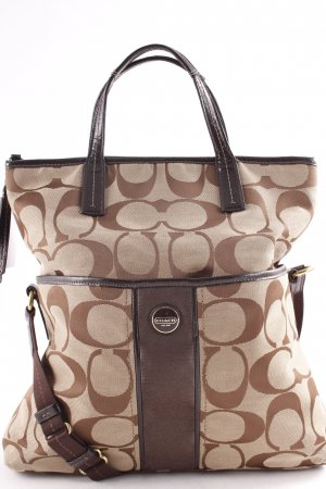 Coach Carry Bag brown-light brown allover print casual look