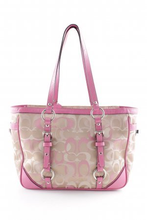 Coach Carry Bag cream-pink extravagant style