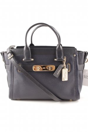 Coach Carry Bag dark blue elegant