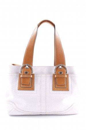 Coach Carry Bag monogram pattern casual look