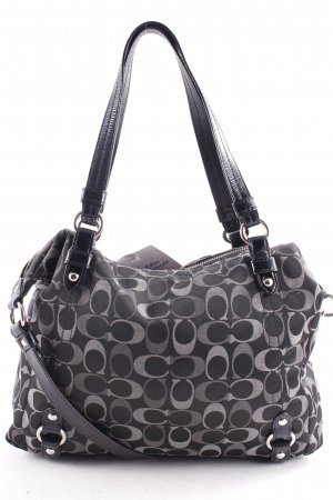 Coach Carry Bag black-grey allover print casual look