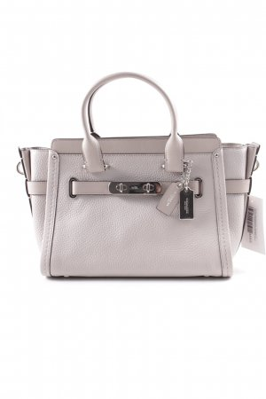 "Coach Carry Bag ""Swagger 27 Carryall Pebbled Cowhide Grey Birch"" light grey"