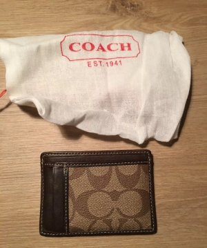 Coach Card Case dark brown-light brown
