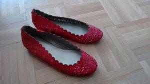 COACH Leder Ballerinas in Rot, ungetragen, Groesse 36.5