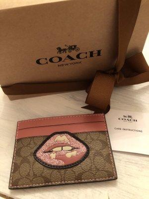 Coach Portefeuille rose-beige