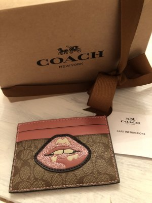 Coach Portefeuille rose-beige