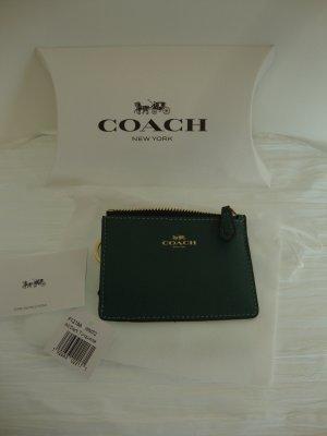 Coach Portachiavi verde scuro Pelle