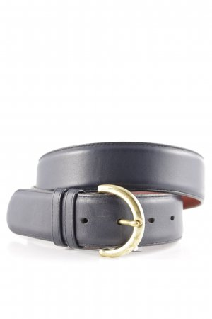 Coach Leather Belt dark blue-gold-colored casual look