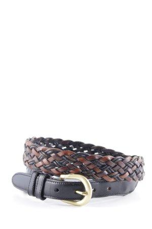 Coach Leather Belt black-brown herringbone pattern '90s style