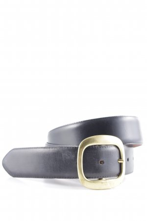 Coach Leather Belt black-gold-colored elegant