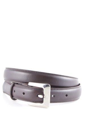 Coach Leather Belt silver-colored-dark brown elegant
