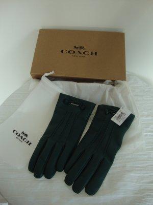 Coach Leren handschoenen donkergroen Leer