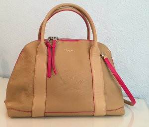 Coach Ledertasche Creme/Pink (Dome Bag)