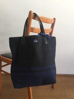Coach Carry Bag black-dark blue wool