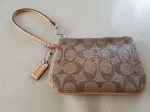 COACH Mini-Tasche, braun/beige mit Leder