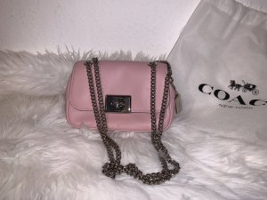 Coach Crossbody bag light pink leather