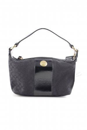 Coach Borsetta mini nero motivo astratto stile casual
