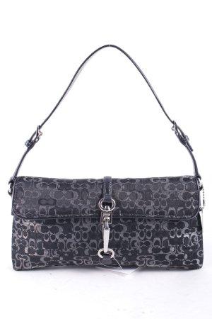 COACH Minitasche schwarz-silberfarben abstraktes Muster Eleganz-Look
