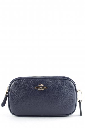 "Coach Minitasche ""XBody Pouch Pebbled Leather Light Gold/Navy"" dunkelblau"