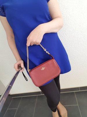 Coach Neu Tasche Clutch LG wristlet metallic cherry rot gold