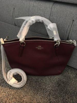 Coach New York Tasche Handtasche rot braun Silber shopper neu Designer Blogger
