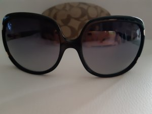 Coach Angular Shaped Sunglasses black-gold-colored synthetic material